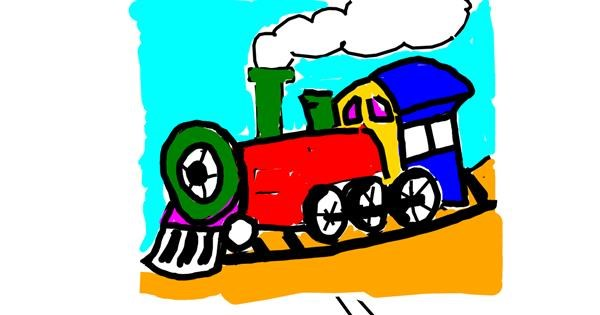Train drawing by Kamie