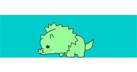 Dinosaur drawing by Wizzy😜