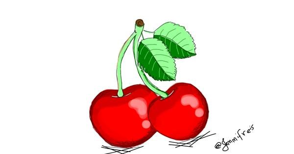 Cherry drawing by Jennifreis