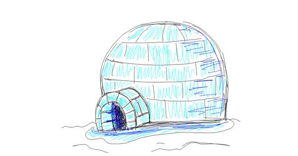 Igloo drawing by Kiwi