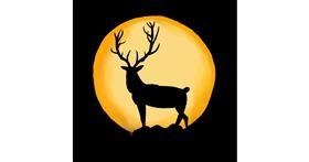 Deer drawing by Luis Mendoza