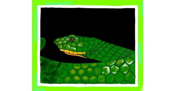 Snake drawing by Abeer