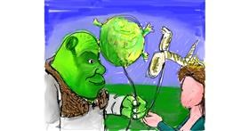Shrek drawing by JCat