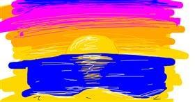 Beach drawing by Nova