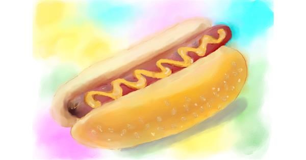 Hotdog drawing by Debidolittle