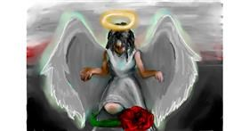 Angel drawing by 🌹🖌𝑅oses-𝕽-𝑅ed