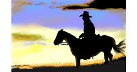 Drawing of Cowboy by GJP