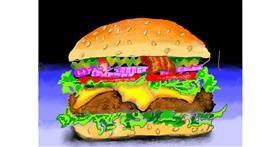 Burger drawing by SAM 🙄