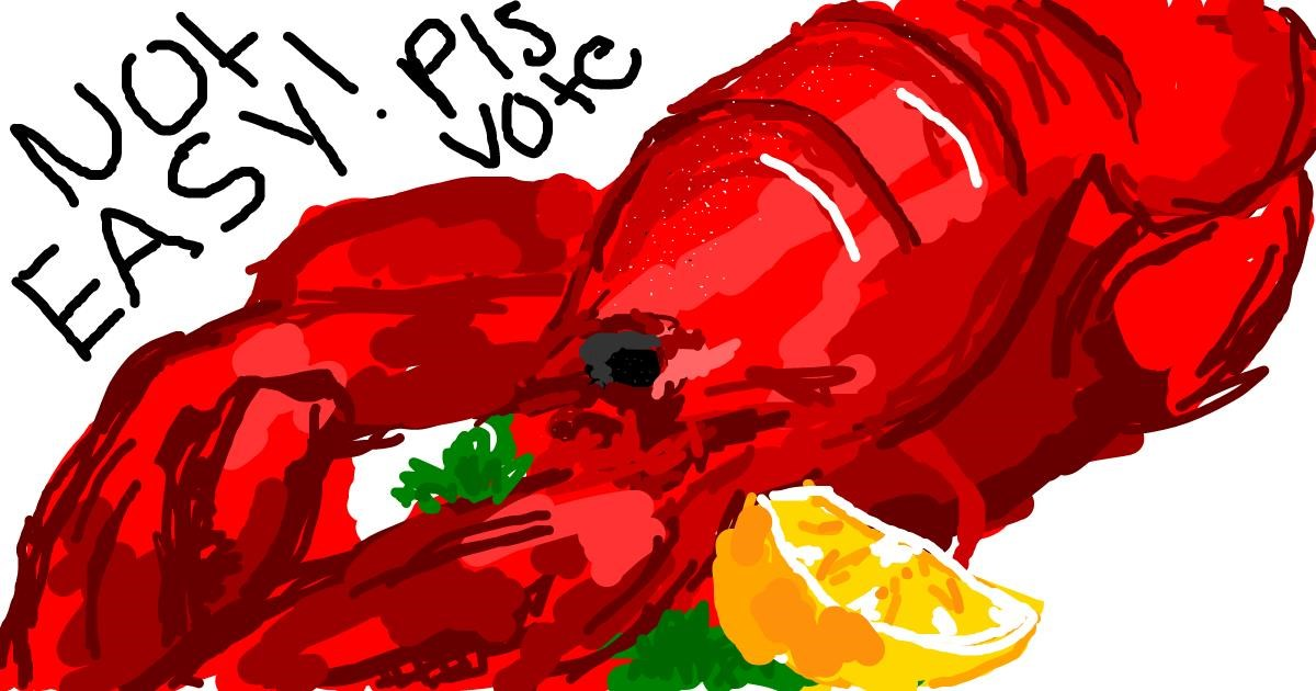 Drawing of Lobster by ;kthkth