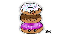 Donut drawing by BlackCat