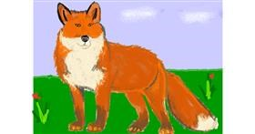 Fox drawing by Vicki