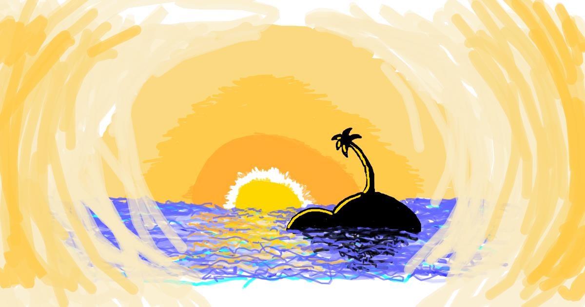 Island drawing by kossara