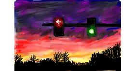 Traffic light drawing by Soaring Sunshine