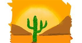 Cactus drawing by Anonymous