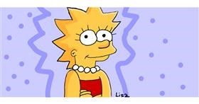 Drawing of Lisa Simpson by You