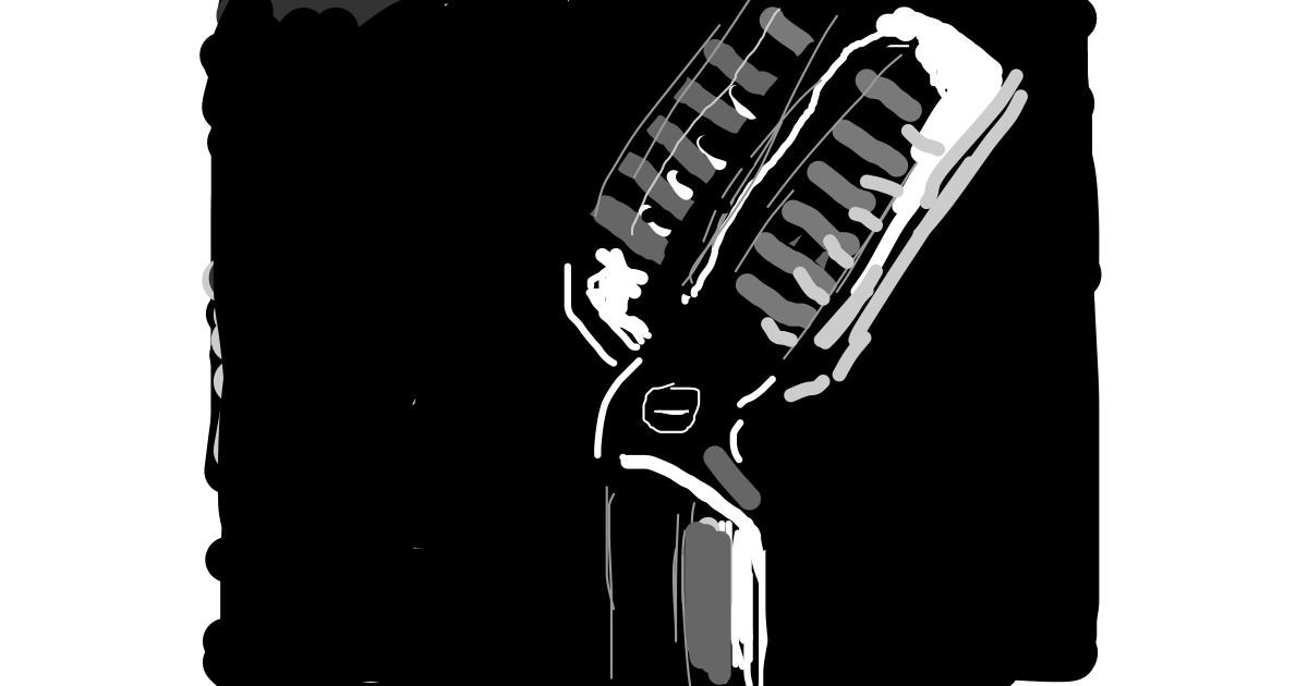 Microphone drawing by Firsttry