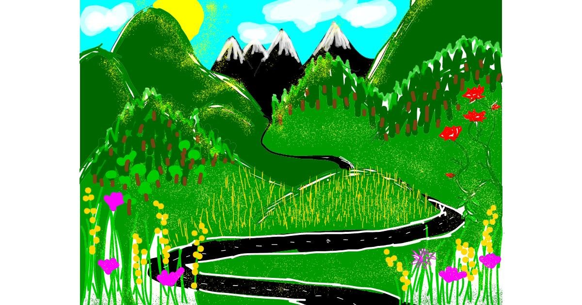 Drawing of Mountain by Lolo
