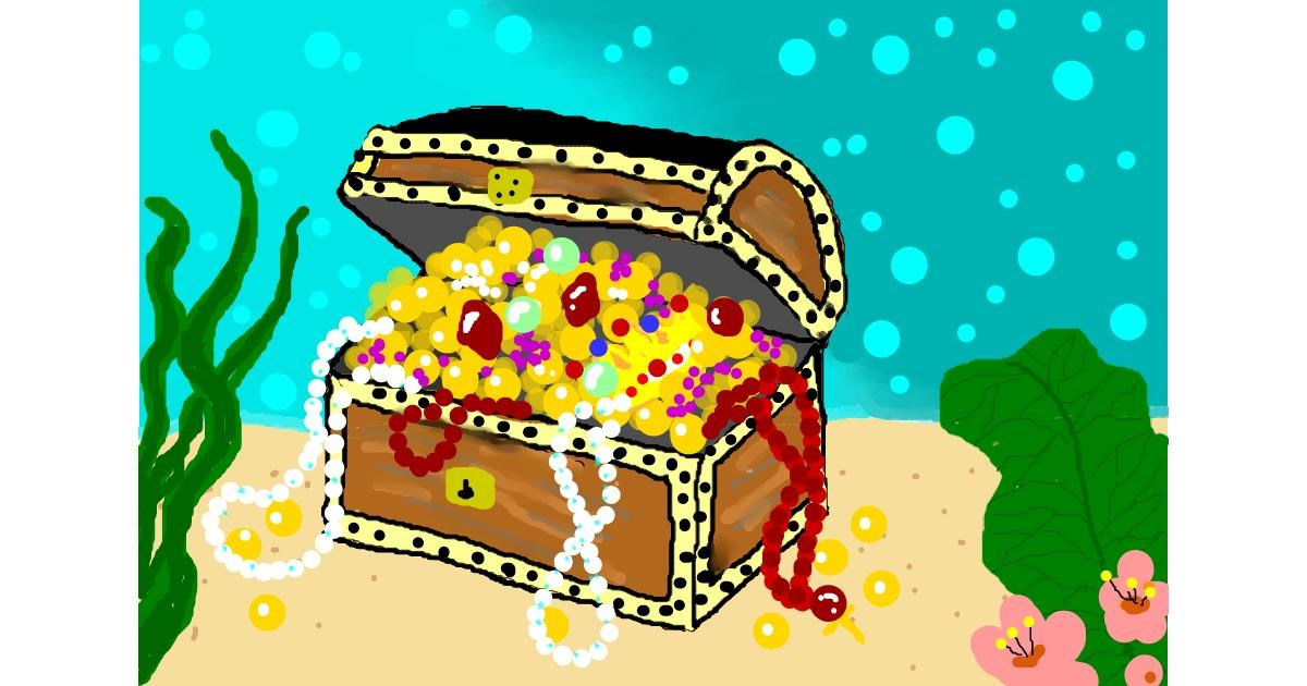 Drawing of Treasure chest by Debidolittle