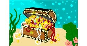 Treasure chest drawing by Debidolittle