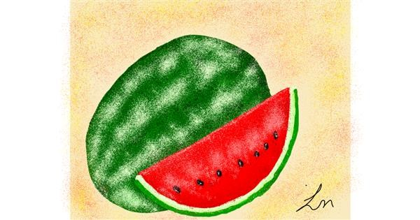 Watermelon drawing by Nonuvyrbiznis