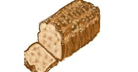 Drawing of Bread by Cherri
