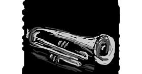 Trumpet drawing by Firsttry