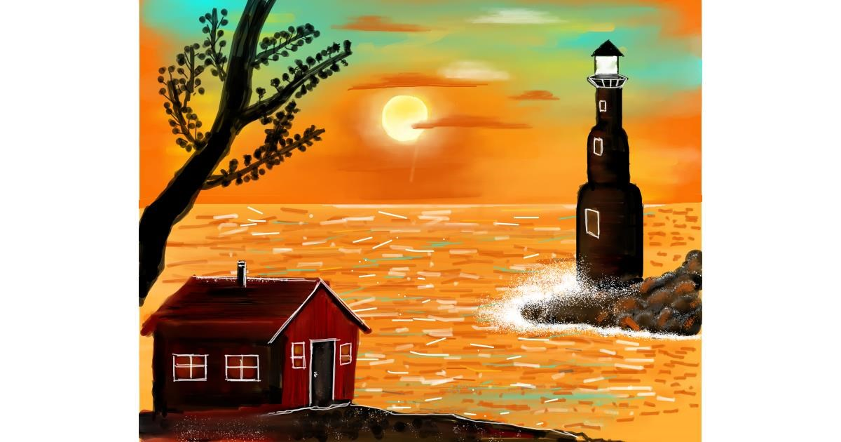 Drawing of Lighthouse by Mitzi