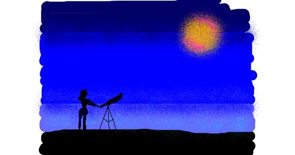 Telescope drawing by Anonymous