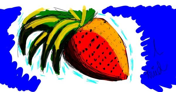 Strawberry drawing by That One Llama