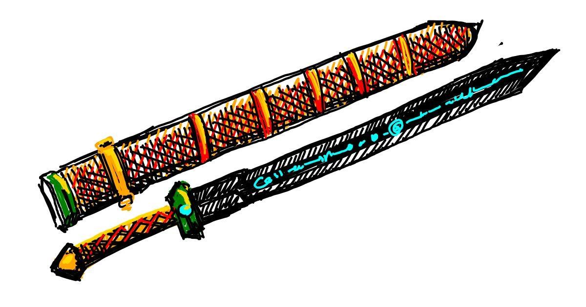 Drawing of Sword by aanturnip