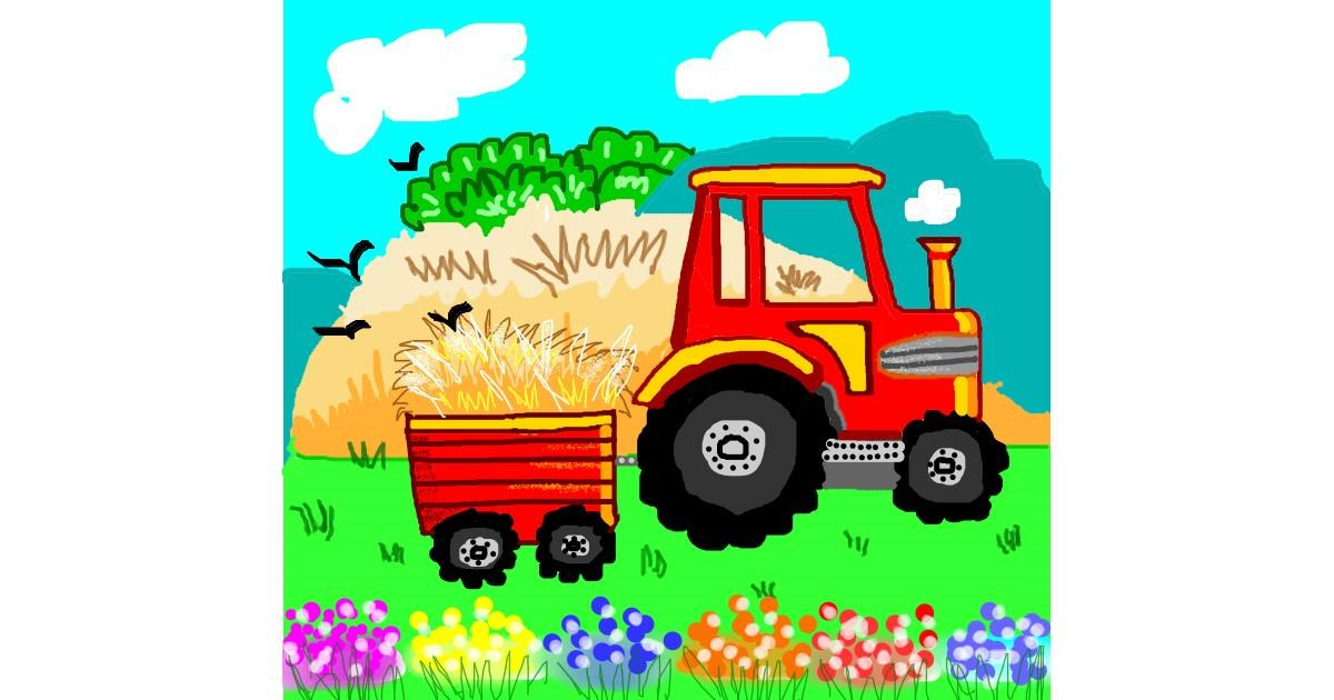Tractor drawing by Dollie 🦅🐬