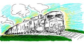 Train drawing by fizhii