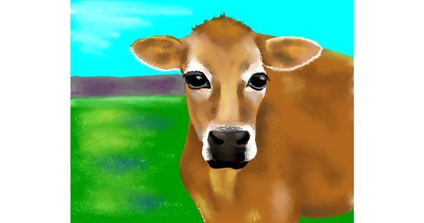 Cow drawing by Cec
