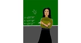 Drawing of Teacher by Dada