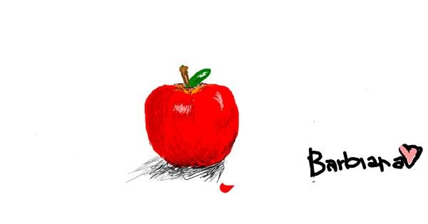 Apple drawing by barbiana