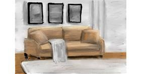 Couch drawing by Soaring Sunshine