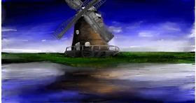 Drawing of Windmill by Soaring Sunshine