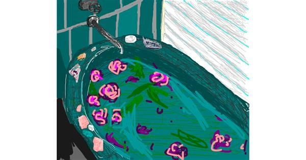 Bathtub drawing by 𝐓𝐎𝐏𝑅𝑂𝐴𝐶𝐻™