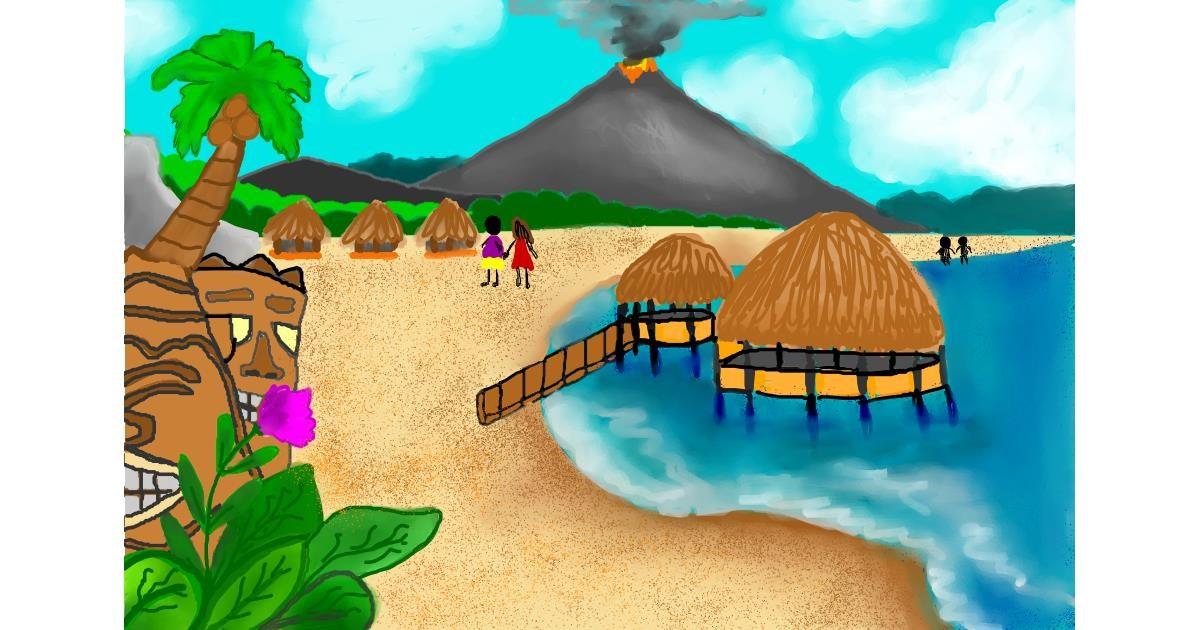 Island drawing by Lollipop🍭