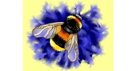 Bee drawing by Cec
