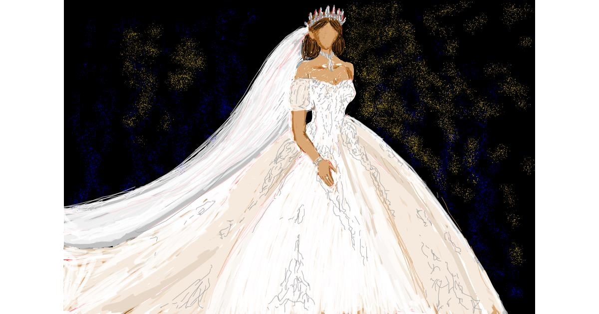 Dress drawing by Tami