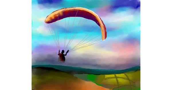 Parachute drawing by Sirak Fish