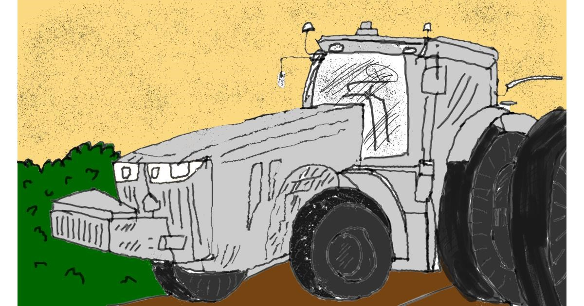 Tractor drawing by loser eerawn