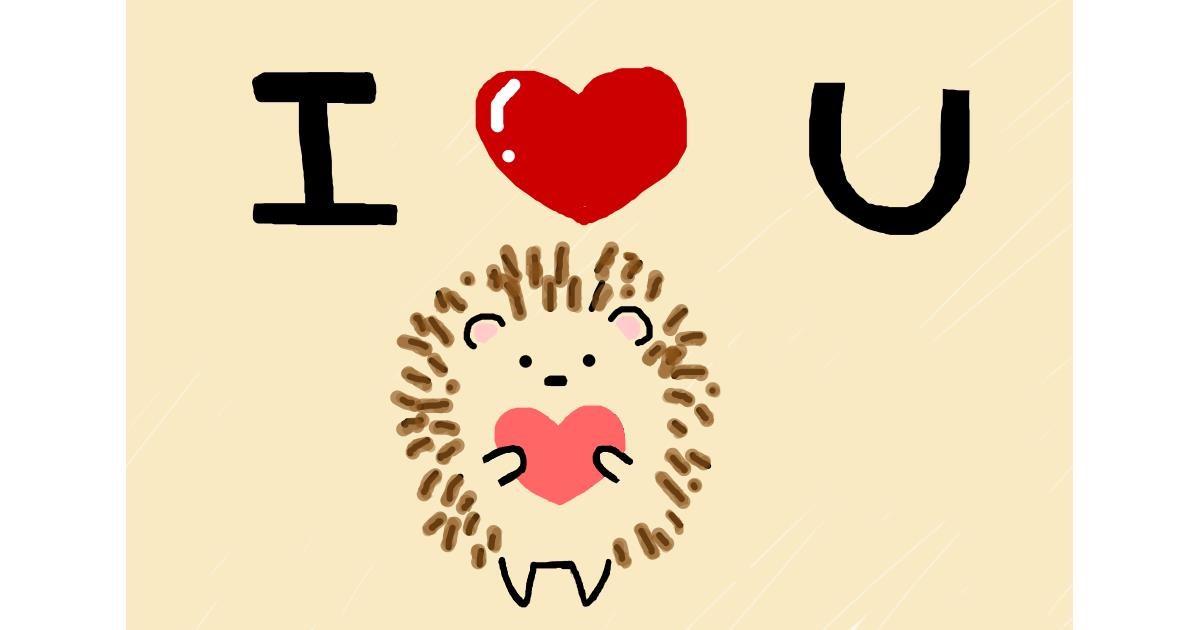 Hedgehog drawing by 🥒kUrRi🥒