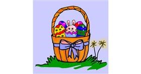 Easter egg drawing by Fazila
