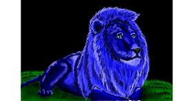 Drawing of Lion by Kaddy