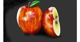 Drawing of Apple by SAM AKA MARGARET 🙄