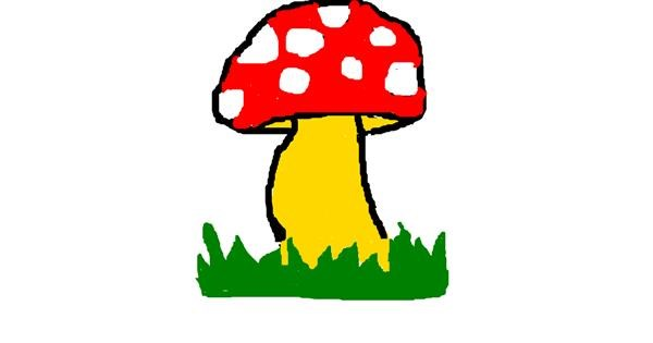 Mushroom drawing by MPK