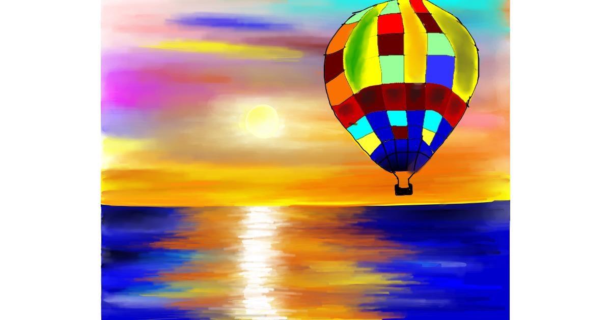 Parachute drawing by Mitzi