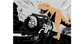 Dinosaur drawing by JJ